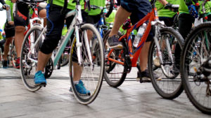 Image of cycling group