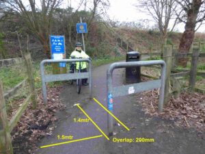 Annotated Photo of Cycleway Gate