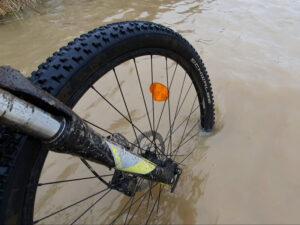 Bike on Flooded Path