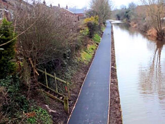 Resurfaced Canal Towpath at Boughton