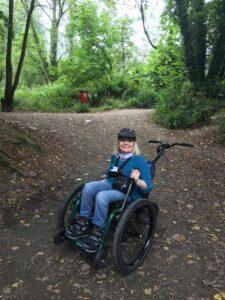 Member on Mountain Trike