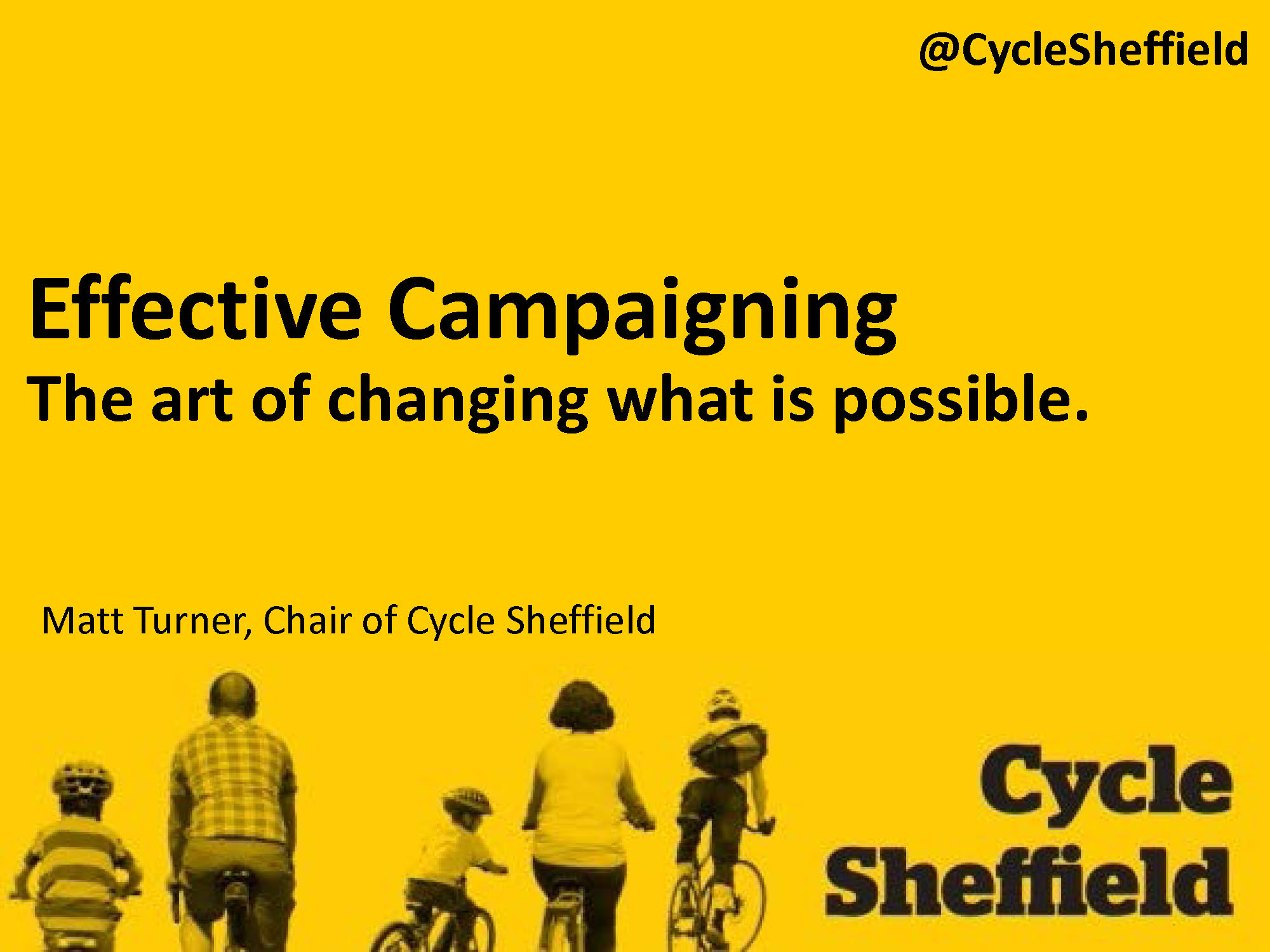 Effective Campaigning - CycleSheffield