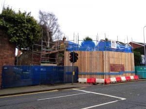 Rocky Lane Retention Wall Repair Begins