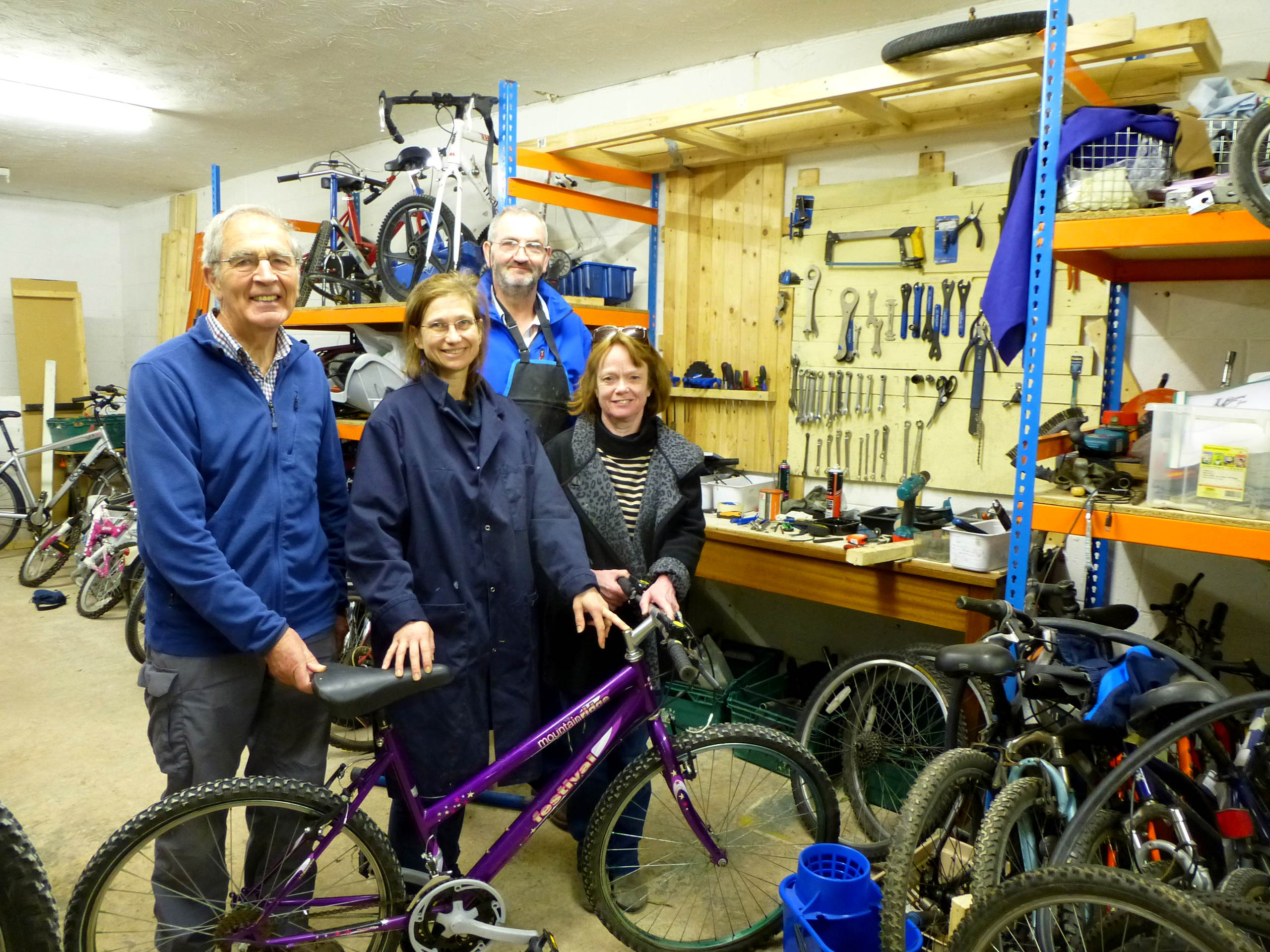Blacon Bike Refurbishment Staff and Volunteers
