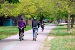 Family on Bike Ride