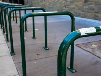Green Bike Racks