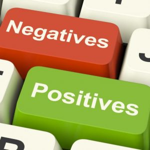 Negatives and Positives Graphic