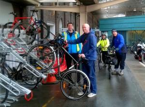 New Bike Racks at Station