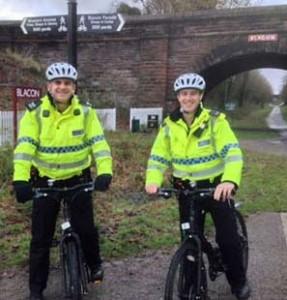 Police on Patrol on Bikes