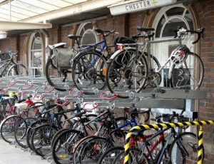 Bike Parking at Chester Station