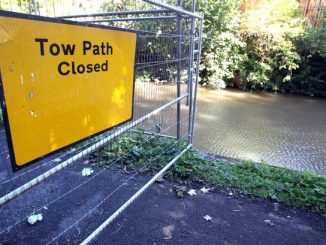 Towpath Closed Sign