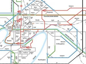 Chester Cycle Network Tube Map