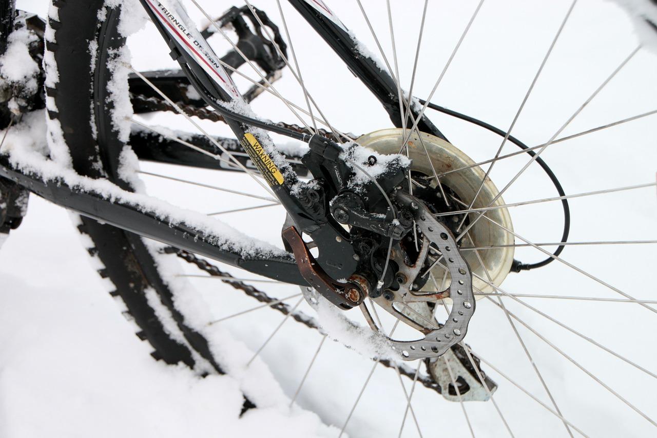 Bike in Winter Snow